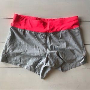 Athletic shorts. Light gray and pink. 5/25‼️